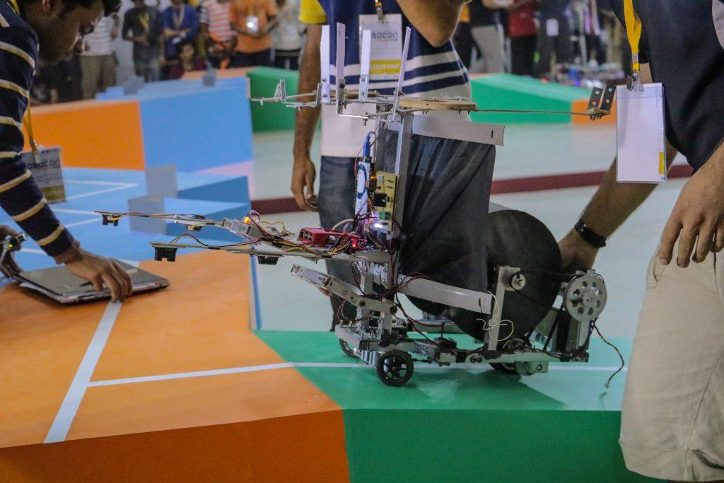 Team RoboManipal's bot, at RoboCon India 2016